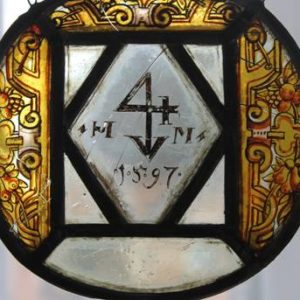 Na szybce znajduje się jedynie data - 1597 r.