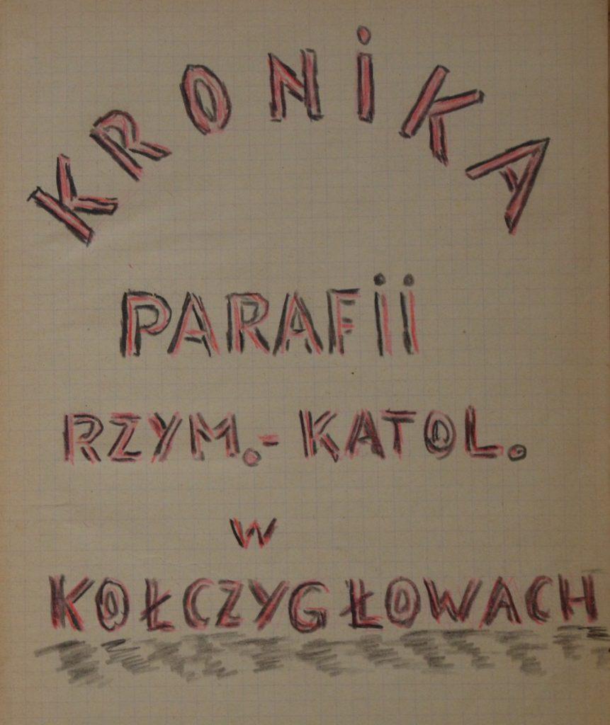 Zdjęcie strony tytułowej najstarszej kroniki