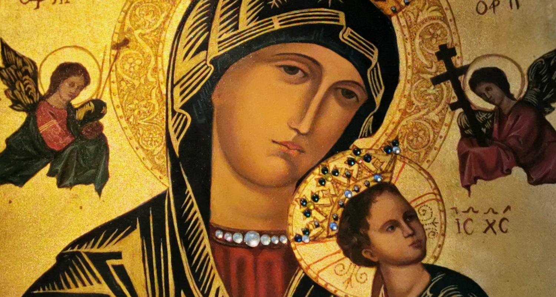 Obraz Matki Bożej Nieustającej Pomocy w Kościele w Kołczygłowach
